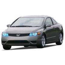 FLASHTECH for Honda Civic 06-08 Blue Single Color LED Halo Ring Headlight Kit - $185.22