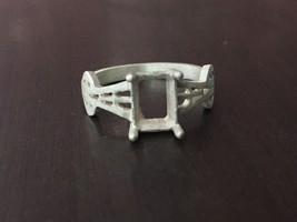 925 Sterling Silver Semi Mount Ring Setting Stone 6 x 8 mm Octagon All U... - $8.79+