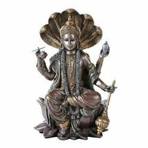 Eastern Hindu God Vishnu Decorative Statue Narayana the Preserver and... - $35.63