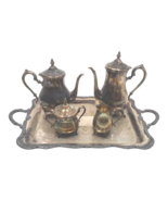 Vintage Rogers Silverplate Coffee and Tea Service with Tray - $1,985.00