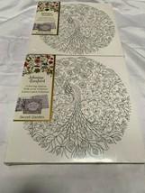 Secret Garden: Johanna Basford Coloring Canvas SG Peacock Lot of 2 Sealed - $26.59