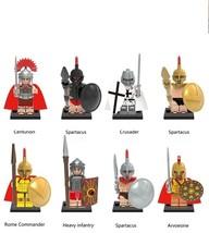 8pcs Rome Commander Centurion Spartacus Crusader Infantry Arvoesine Fit ... - $15.50
