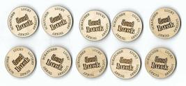 Lucky Lottery Ticket Scratcher wooden token Qty (10) - $8.86