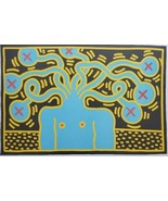 Vintage & Rare 1985 Keith Haring MEDUSA HEAD Pop Art Lithograph Poster o... - $2,363.75