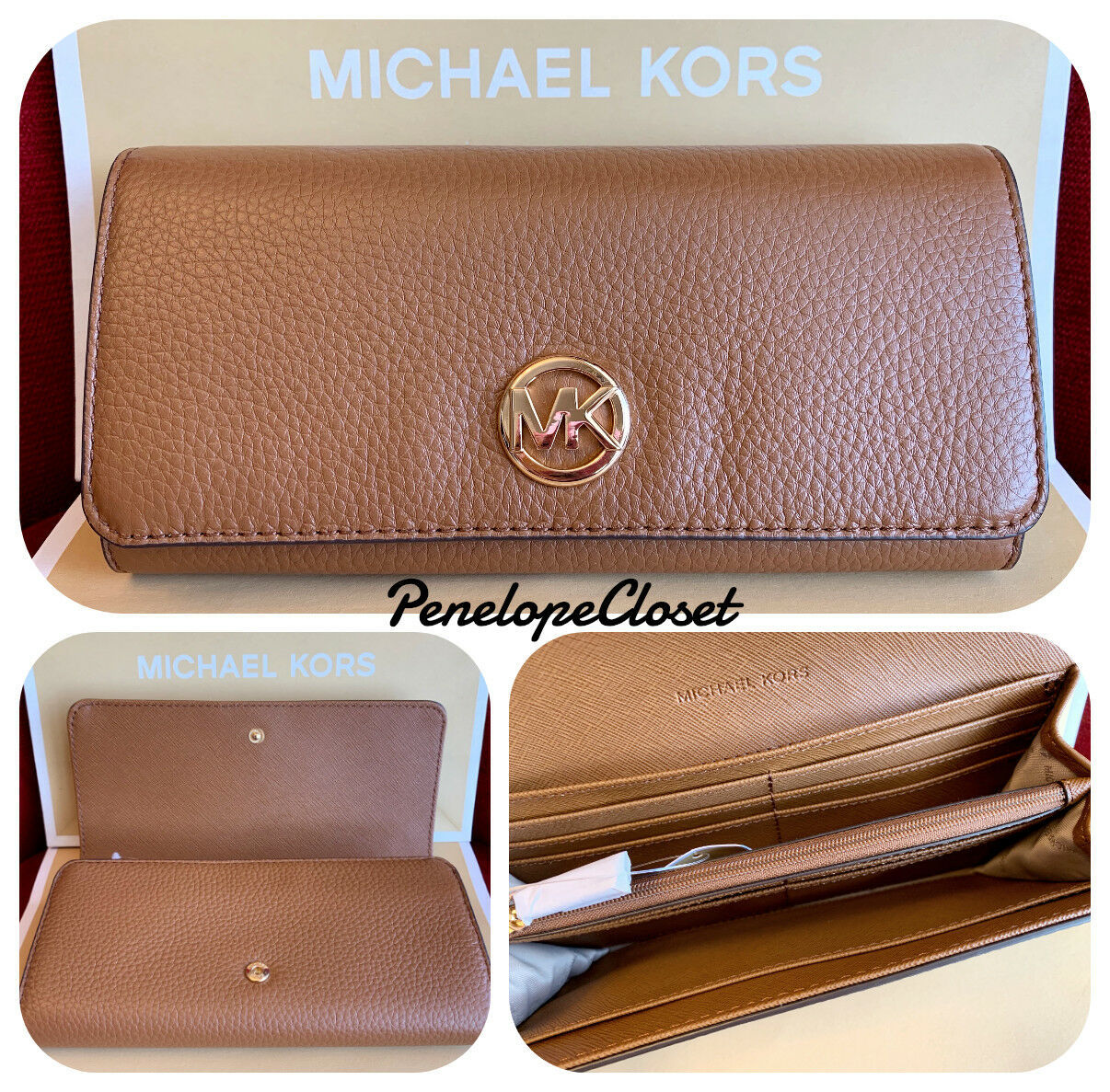 af7ac51c7248d0 Nwt Michael Kors New Pebbled Leather Fulton and 14 similar items. 57