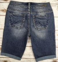 Silver J EAN S Shorts Mid Rise Suki Denim Stretch Jean Cuffed Short 28 - $19.97