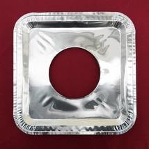 40 PC Aluminum Foil Square Gas Burner Disposable Heavy Thick Quality Bib... - $12.35