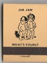 Vtg Strike on Matchbook  of Jim & Jan  What's Yours (cream) Restaurant Ad - $11.87