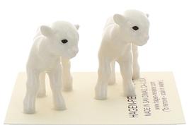 Hagen-Renaker Miniature Ceramic Lamb Figurine Baby White Set of 2 image 2