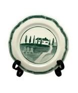WILLIAMS-SONOMA  Marketplace Accent Salad Plate Green Farm Scene Portuga... - $9.89