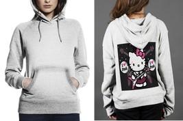 Hello Kitty I love punk Classic Hoodie Women White - $29.80
