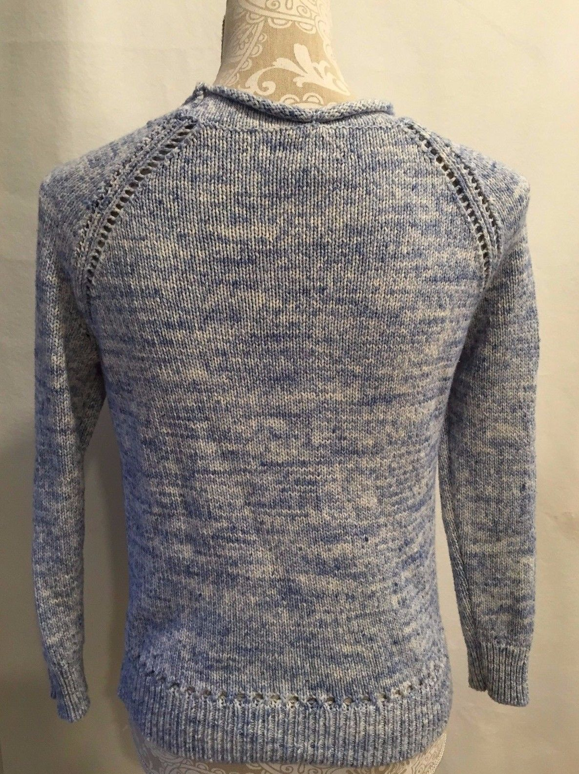 40273e2cd5 J.CREW WOMEN BEACH SWEATER WITH POINTELLE DETAILS PETITE SIZE S