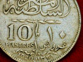 Egypt Sultan Fuad 10  Piastres 1920H - $583.11