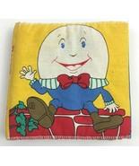Vintage Pudgy Pillow Book Mother Goose Nursery Rhymes Cloth Nina Barbaresi - $9.84