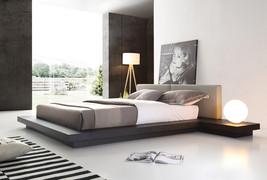 Modrest Opal Modern Wenge & Grey Platform Bed - $1,249.00+