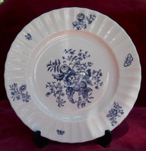 ROYAL WORCESTER BLUE SPRAYS SALAD PLATE S FLORAL - $13.44