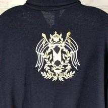 Women's St. John Sport Navy Emblem Logo Sweater Jacket EUC Size Large - $145.12