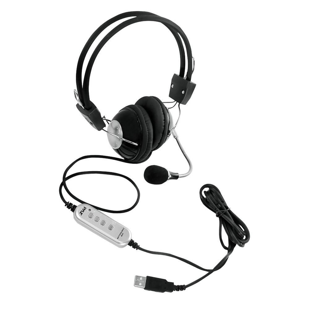 Pyle Multimedia/Gaming USB Headset with Noise-Canceling Microphone