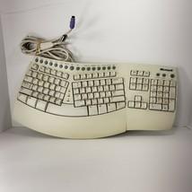 Microsoft Natural Keyboard Pro Ergonomic USB PS/2 Ergo RT9401 V:5FTW 2 USB 4.H4 - $38.69