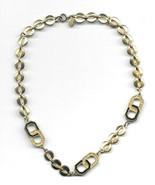 "Vintage Diane Von Furstenberg Necklace Gold Tone 15 1/2"" Signed Costume ... - $24.99"