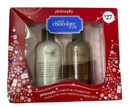 PhilosophySet  Fresh Cream & Mint & Hot Cocoa Shampoo Shower Gel Bubble ... - $26.99