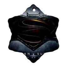 Heroes Batman Vs Superman Procelain Ornaments (Snowflake) Christmas - $6.99