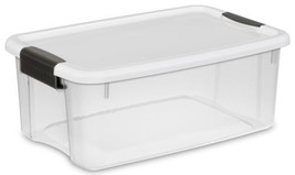 18 Quart/17 Liter Ultra Latch Box Clear White Lid Black Latches 6 Pack B... - $86.64 CAD