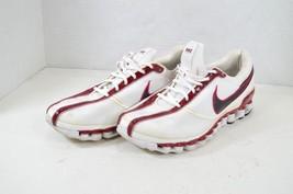 Vintage Nike Mens 10 Shox Saya Running Jogging Athletic Shoes White Red  - £37.75 GBP