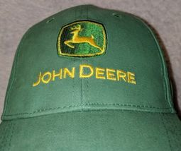 John Deere LP14418 Green Adjustable Baseball Cap With Leaping Deer Logo image 3