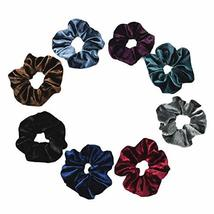 10 Pcs Winter Velvet Hair Scrunchies Colorful Hair Band Elastics Hair Ties