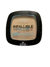 L'Oreal Infallible Pro Glow Longwear Pressed Powder  Shade 24 Natural Beige - $7.51