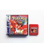 Pokemon Red Full Color Upgrade DX w/Case (Nintendo Game Boy GBC) Remaste... - $14.99+