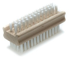 Non-Slip Wooden Two-sided Hand and Nail Brush - $7.02