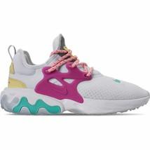 Women's Nike React Presto Running Shoes White/Hyper Violet/Luminous Gree... - $168.63