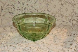 "Hazel Atlas Depression Glass Green CRISSCROSS Mixing Bowl 6 5/8""  KDGY 206 - $31.50"