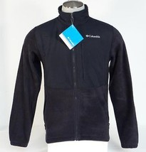 Columbia Loganville Trail 2.0 Black Full Zip Fleece Jacket Mens NWT - $74.99
