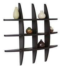 Wall Shelf Floating Wood Wall Shelving Solution Cross Style Wall Organiz... - $1.185,61 MXN