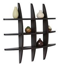 Wall Shelf Floating Wood Wall Shelving Solution Cross Style Wall Organiz... - $1.199,51 MXN