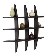 Wall Shelf Floating Wood Wall Shelving Solution Cross Style Wall Organiz... - $58.65