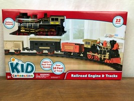 KID CONNECTION - 22 PIECE BATTERY POWERED TRAIN AND TRACKS - $11.75