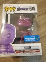 FUNKO POP MARVEL AVENGERS ENDGAME PURPLE CHROME HULK # 499 NEW In BOX - $4.95