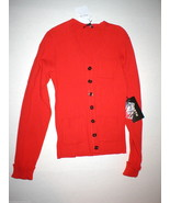 New NWT $398 Womens Worth New York Designer Red Black Cardigan Sweater X... - $71.64