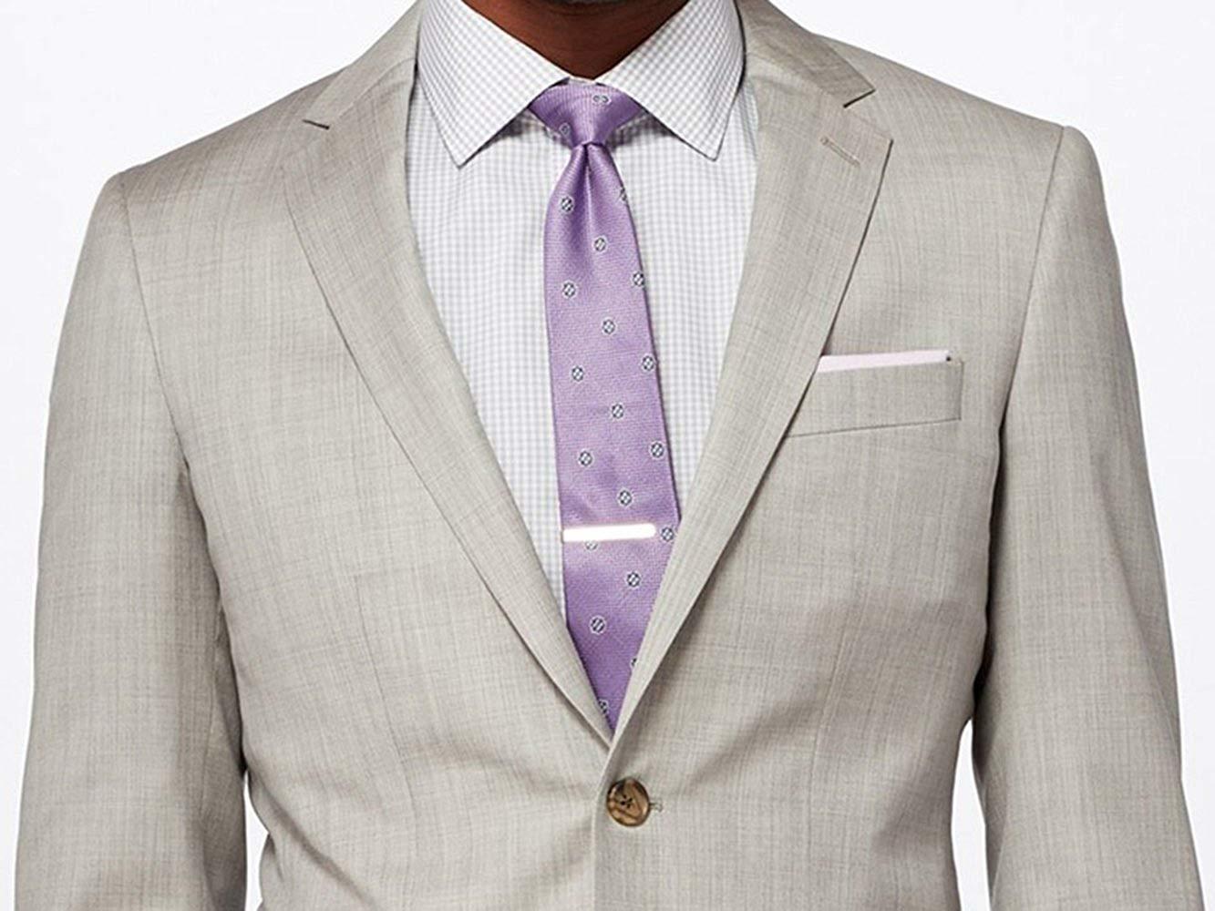 2 piece light gray slimfit suit