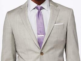 Mens 2 Piece Light Gray Slimfit Suit image 1