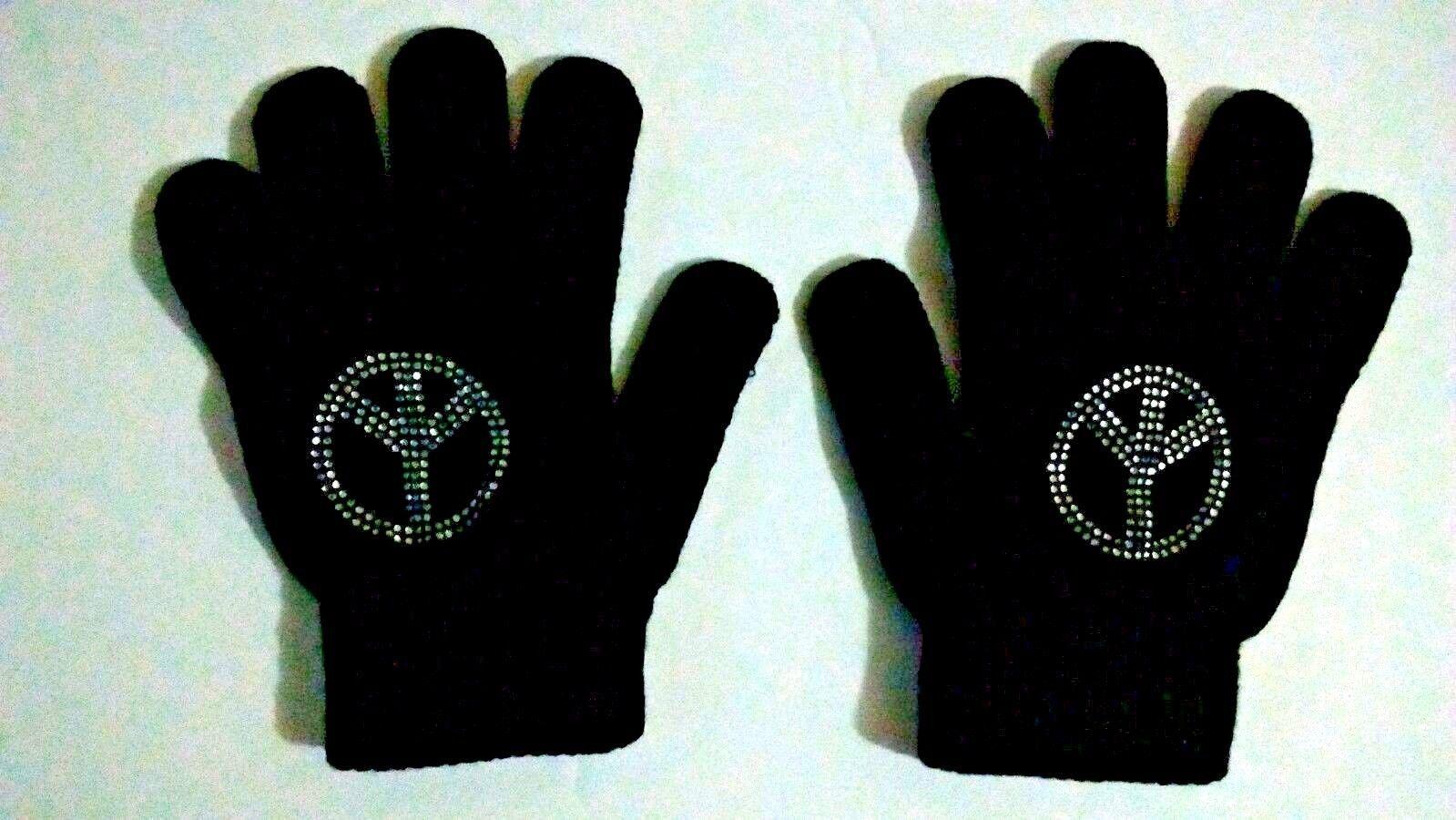 Old Navy Black Peace Kids Gloves