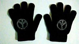 Old Navy Black Peace Kids Gloves   - $5.99
