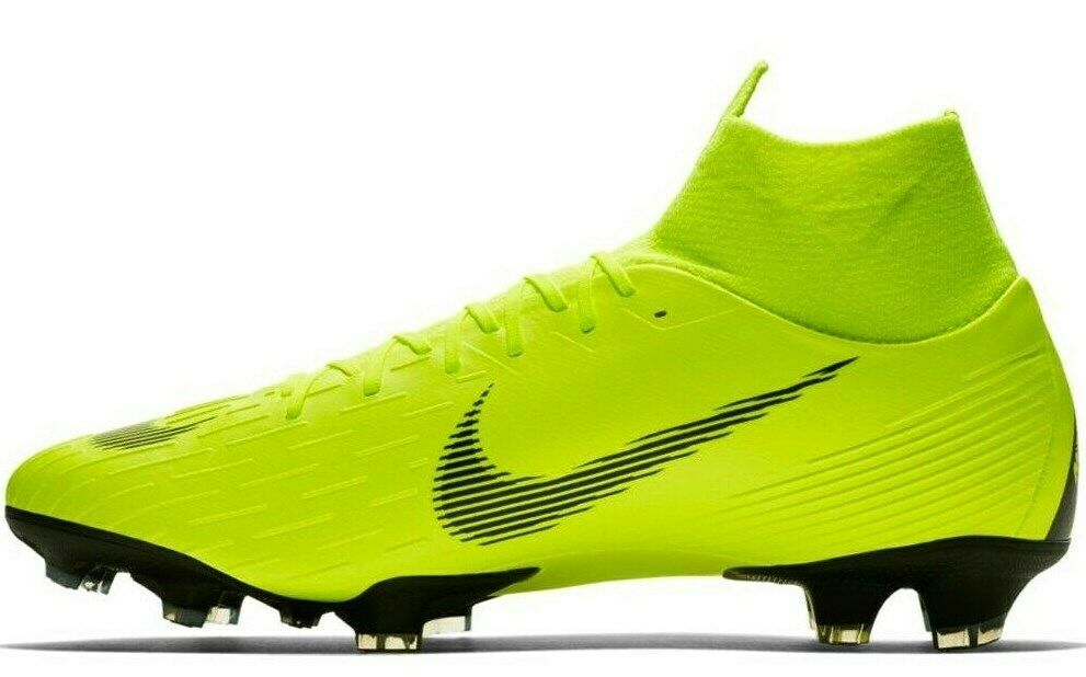 NIKE MERCURIAL SUPERFLY 6 PRO FG VOLT/BLACK SIZE 8.5 BRAND NEW (AH7368-701) image 4