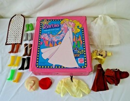 1977 Barbie Fashion Doll Case Vinyl Mattel with Clothing Shoes Accessories - $24.99