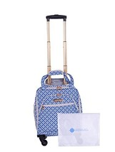 """Jenni Chan Colima 2-Piece Set 15"""" Spinner Tote + 311 Bag Travel, Blue One Size"""