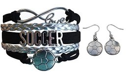 Infinity Collection Soccer Jewelry Set for Women, Soccer Bracelet and So... - $16.50